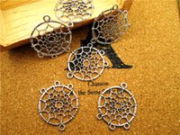 Wholesale 300pcs Dream Catcher Charms Antique Tibetan Silver Dreamcatcher Charm Pendants x29mm