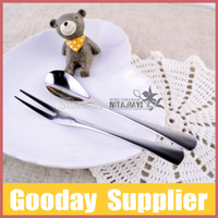 best china tea - set Stainless Steel Spoon Fork Set pc set Best For Tea Time Coffee Spoon Dessert Fork By DHL