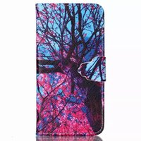 apple season - Newest Quality Blossom season Style PU Leather Phone Case For iPhone S S s Plus s Plus Samsung S3 S4 S5 S6 use Wallet Card Slot