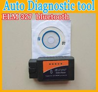 Wholesale NEW Mini ELM ELM327 bluetooth OBD OBD2 OBDII Protocols Auto Car Diagnostic Interface Scanner tool code reader on Android