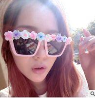 pink sunglasses - 30PCS Handmade Pink Flowers Sunglasses Hipster Sunglasses lunette Women Sunglasses Plastic Sunglasses Fashion Sunglasses