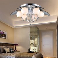 Wholesale chandelier Crystal Ceiling Lights V V Voltage Non Dimmable Surface Mounted Ceiling Lights Fit for Mall E12 E14 E27 Lamp Base ws