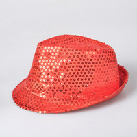 Wholesale European and American men and women tide cap KTV nightclub jazz hat hat LED light colorful sequins