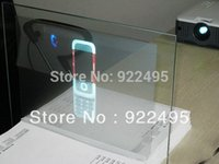 Wholesale m m gray Adhesive Rear projection film foil for d hologram display event Paste on the transparent glass