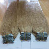 Wholesale 100 Brazilian Human Virgin Hiar Tape hair extension Remy Straight Hair PU Skin Weft Hair Extension Human Hair
