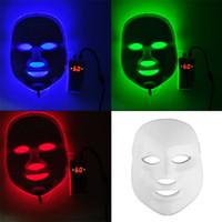 al por mayor luces máscara-Coreano LED Máscara Facial Fotodinámica Inicio Uso Equipo De Belleza Anti-acné Rejuvenecimiento De La Piel LED Máscaras Fotodinámicas 3Colors Luces 0602011