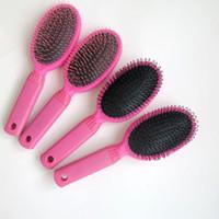 big hair comb - Hair Extensions Comb Loop Brushes for Human Hair Extensions Wigs Loop Brushes in Makeup Brushes Tools Pink color big size