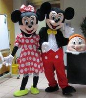 Mickey caliente del traje de la mascota de 2015 Micky Mouse y ropa de Minni, ventilador al por mayor, envío libre