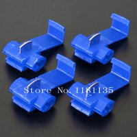 Wholesale 20pcs New Blue Scotch Lock Quick Splice awg Wire Connectors Terminals Crimp Electrical