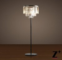 Wholesale Replica item industrial lamp S ODEON CLEAR GLASS FRINGE FLOOR LAMP K9 Lustre CRYSTAL