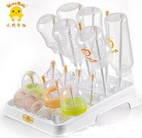 Wholesale baby bottle drying rack bottle drying racks bottle stand foldboat mount keep clean baby bottle rack