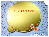 base boards - Round Gold Cake Base Board of Bakeware Cake Mould Tool for Holding Mousse Size cm