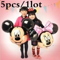 balloons retail - Party Supplies fashion classic children s toys Party Mickey Minnie cartoon aluminum balloons and retail