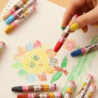 Wholesale 12 Multi Color Artistic Oil Paint Stick Wax Crayon Pastel for Kids