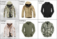 Wholesale Men s Outdoor Outfit Camping Jacket Lurker Shark Shell Hiking Military Waterproof Windproof High Quality Camouflage Fleece Sports Coat