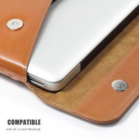 Wholesale LENTION Premium Quality Leather Sleeve Bag Case Cover for MacBook Air Inch MacBook Pro and Inch with Retina