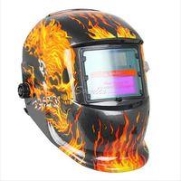 Wholesale Pro Flame Skull Solar Auto Darkening Welding Helmet ARC TIG MIG MAG Welder Mask Drop Shipping