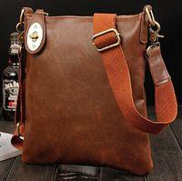 big retailers - amp Retailer Men s Messenger bag big promotion leather shoulder bag man bag casual fashion ipad briefcase free