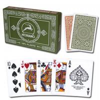 pvc decking - XF Modiano Club Poker Da Vinci Club Casino green brown Regular Deck Set regualar index make in Italy PVC playing cards plastic card
