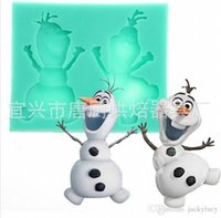 Wholesale Frozen Olaf D Silicone Soap Mold Cake Baking Fondant Candy Molds Chocolate Biscuit Mould Christmas Cake Decorating Tools Supplies