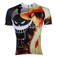 ace bike - new comic One Piece men s Portgas D Ace cartoon cycling jersey funny Ace cycling shorts suits novelty bike wear