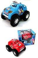 mejor modelo de coche de juguete de regalo de Mickey volcado eléctrica juguetes rompecabezas jeep coche camión coche del truco para niños de 1-8 años de edad los coches rojos de dibujos animados azul libre de DHL