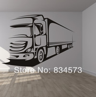 Cheap Free Shipping Lorry Wagon Truck Transport Wall Art Sticker wall Decal DIY Home Decoration Wall Mural Removable Sticker 65x46cm