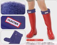 fleece socks - 2015 cheap style hunter rainboots socks high rain shoes welly polar fleece women or men rain boots socks