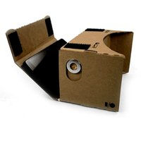 Wholesale DIY Google Cardboard Mobile Phone Virtual Reality D Glasses for IPHONE Samsung s5 note Google Nexus MOto Xiaomi FEDEX free