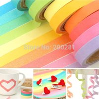 Wholesale New xDecorative Washi Rainbow Sticky Paper DIY Rainbow Washi Sticky Paper Masking Adhesive Tape Scrapbooking Masking Tapes