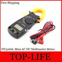 Wholesale DT3266L Mini Professional Digital AC DC Clamp Multimeter Meter