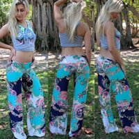 palazzo pants - LADIES FLORAL PRINT PALAZZO TROUSERS WOMENS SUMMER WIDE LEG PANTS PLUS SIZES