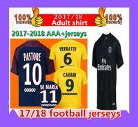 Thai quality 2017 2018 shirt NEYMAR JR soccer jerseys MBAPPE Di Maria  Draxler DANI ALVxler DANI ALVES Cavani football jersey shirt ... 16ceca6a5