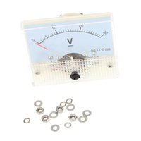 Wholesale DC V Analog Voltmeter Voltimetro Analog Panel Meter Tester For Experiment Or Home Use order lt no track