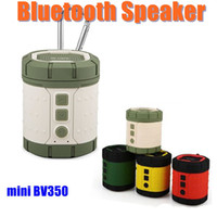 audio bookshelf speakers - Mini BV350 Portable Bluetooth Speaker Wireless Stereo Audio Outdoor Sports USB Power Subwoofer With TF Card Buckle Super Bass MIS067