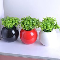 Wholesale 10Pcs Bean Sprout Artificial Fake Plant Plastic Potted Home Office Table Desk Decor Christmas Gift
