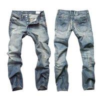 Wholesale Jeans Men New Fashion Straight Denim Trousers Slim Casual Pants M3AO