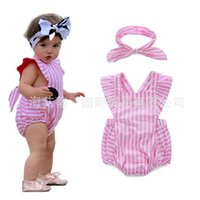 romper dress - Girl Dress Rompers For Babies Baby Dress Children Clothes Kids Clothing Summer Jumpsuit Girls Headbands Baby One Piece Romper C10831