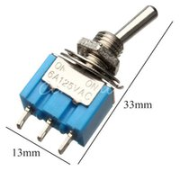 Wholesale Miniature Toggle Switch MTS SPDT A VAC A VAC Mini Switch Lever Switch Pin ON ON