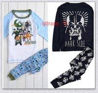 Cheap 240 BBA5345 Kids star wars Pajamas baby star warsTop+Pants Casual star wars Sleepwear Cotton star wars homewear Darth sleepsuit nightgown