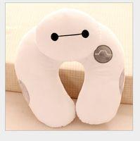 big nurses - Neck U shaped pillow baymax big hero six cushions Plush Headrest Car Flight Travel Soft Nursing Cushion