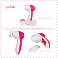 Wholesale 3 packs Deep Clean In Electric Facial Cleaner Face Skin Care Brush Massager Scrubber Plastic Material For Facial Cleaner