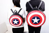Wholesale Preppy Style fashion backpack avengers alliance captain America shield Outdoor Packs