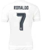 name brand apparel - 2015 Real Madrid Home Ronaldo Soccer Jerseys Brand Thai Quality Jerseys Original Name Number Soccer Wears Discount Soccer Apparel