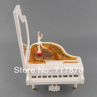 Wholesale Cute Love White Piano Dancer Ballet Girl Music Musical Box Toy Valentine s Gift
