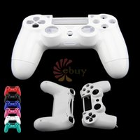 Cheap 2014 Newest Hot controller shell housing cover for Sony Playstation 4 PS4 Bluetooth Wireless Controller Repair Shell,White