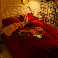 100% cotton bed sheet set - 3D Bedding Noctilucent Bedding Set Queen Size TC Cotton Duvet Cover Set Flat Sheet Pillow Case The Iron Man Gorgeous Bedding