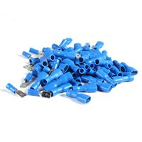 Wholesale 100pcs Insulated Crimp Terminals Electrical Connectors Auto Wiring Spade Butt