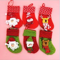 christmas fabric - Christmas Decorations new gift Cute little stocking high quality handcraft Flannel Fabric christmas stock types