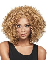 Wholesale THZ women s black full Curly hair fashion wigs
